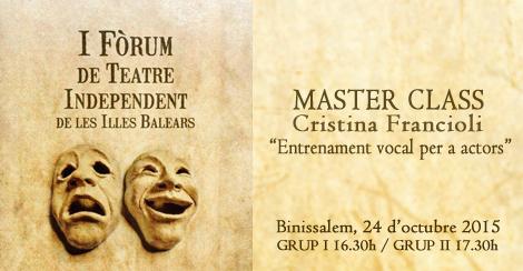 MASTER CLASS Cristina Francioli